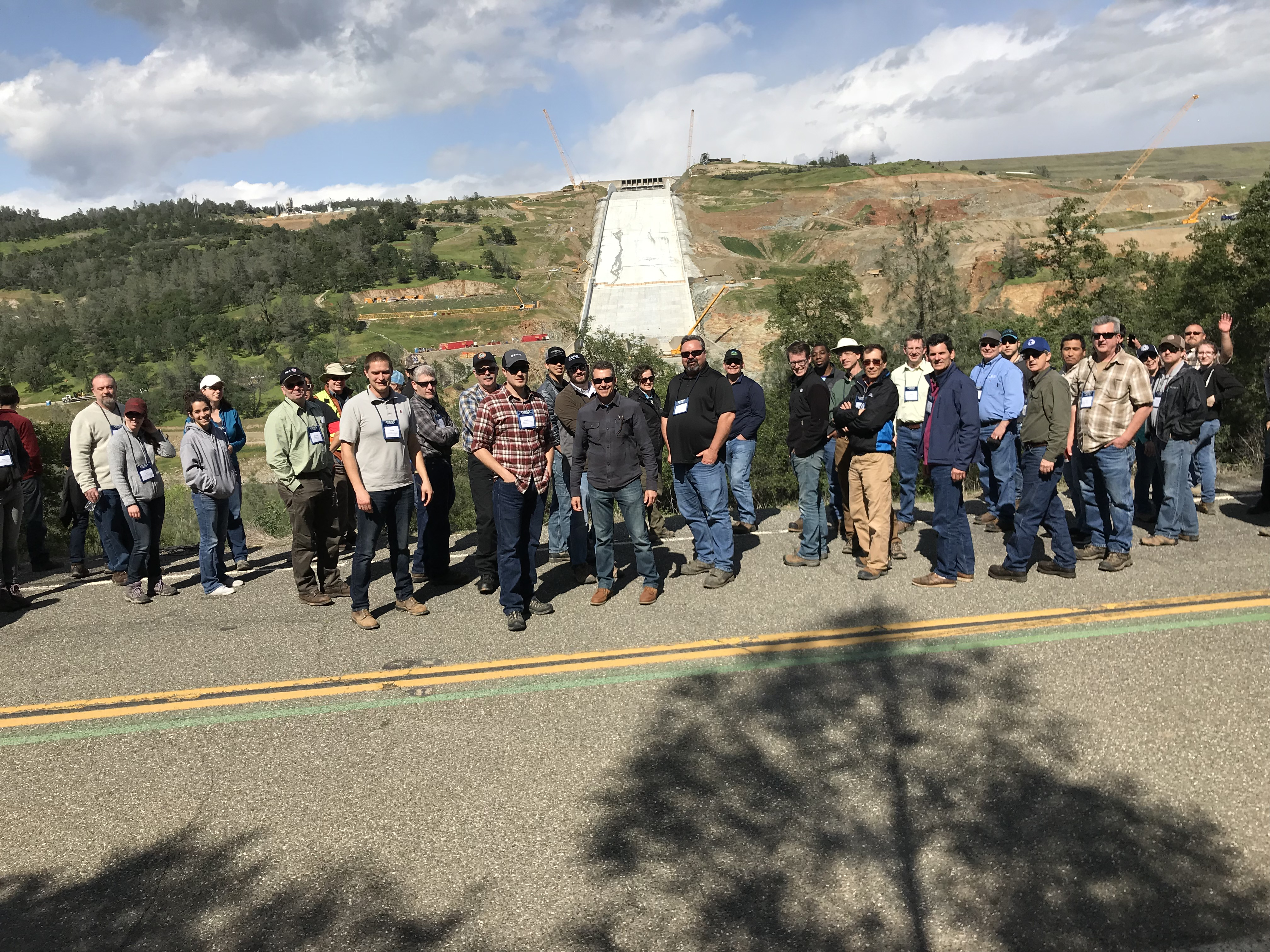 Class Photo in Front of Oroville Spillway