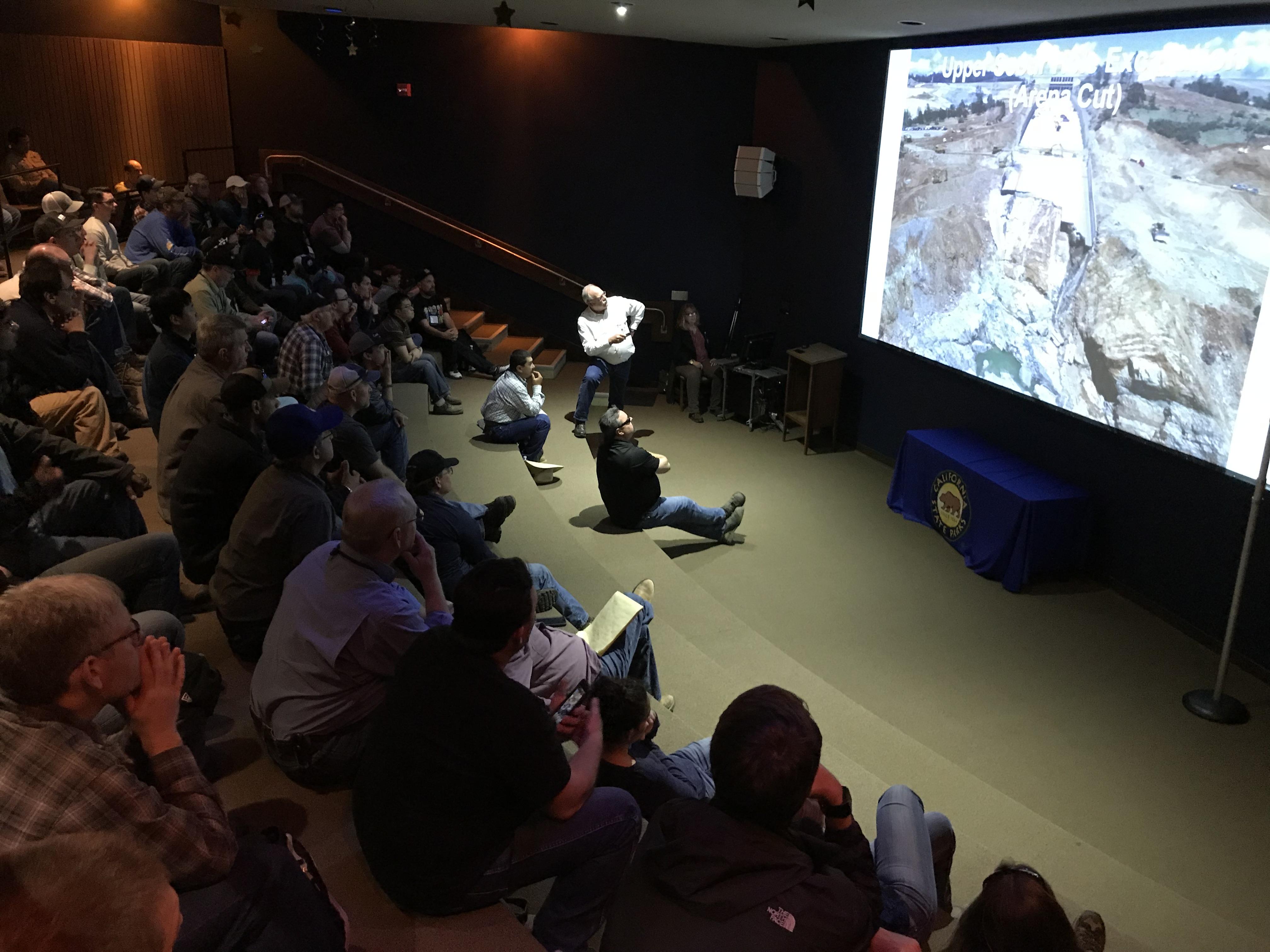 Steve Verigin Giving Lecture at Oroville Dam Visitors Center