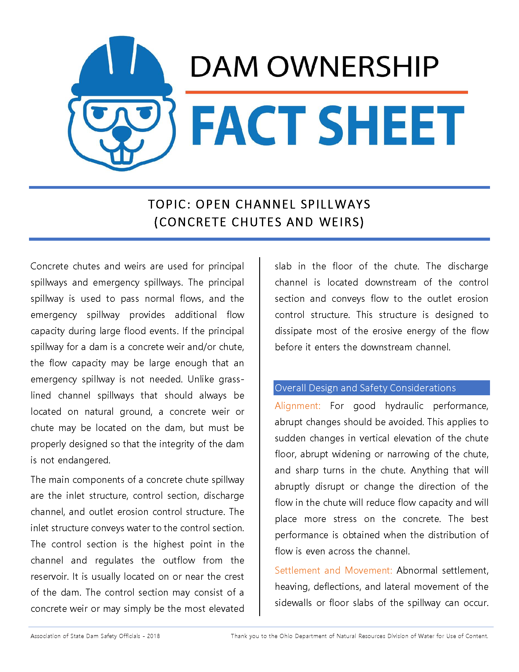 Open Channel Spillways - Chutes and Weirs - Fact Sheet 2018_Page_1.png